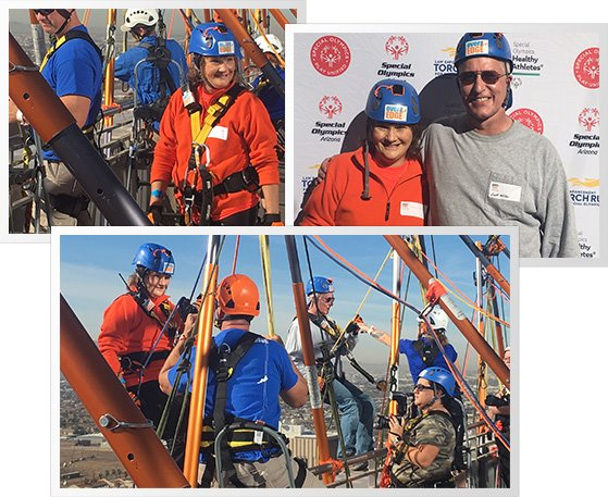 MCAO Detective Scott Miller and Legal Support Specialist Lisa Fettis went Over the Edge.