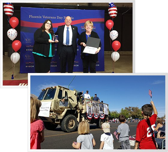 MCAO's Veterans Day float was honored with a 1st place win