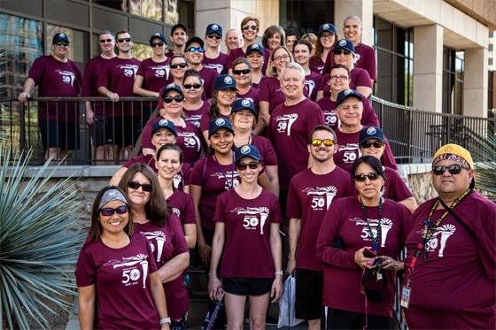 Maricopa County Attorney Bill Montgomery and MCAO Employees participate in the Law Enforcement Torch Run
