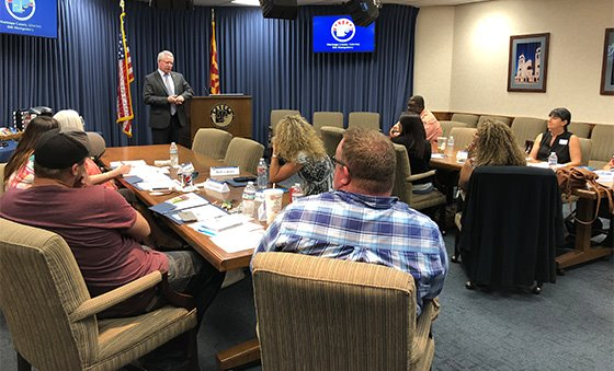 "Citizens Academy ""Teachers Edition"" - County Attorney Bill Montgomery speaking to the class"