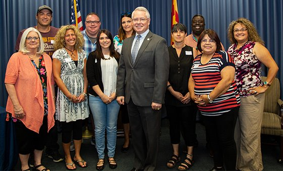"Citizens Academy ""Teachers Edition"" - Class Photo with County Attorney Bill Montgomery"