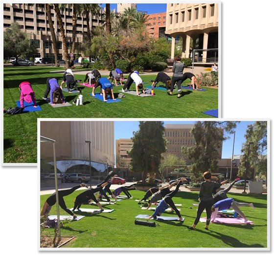MCAO Employees Join Outdoor Fitness Classes in February