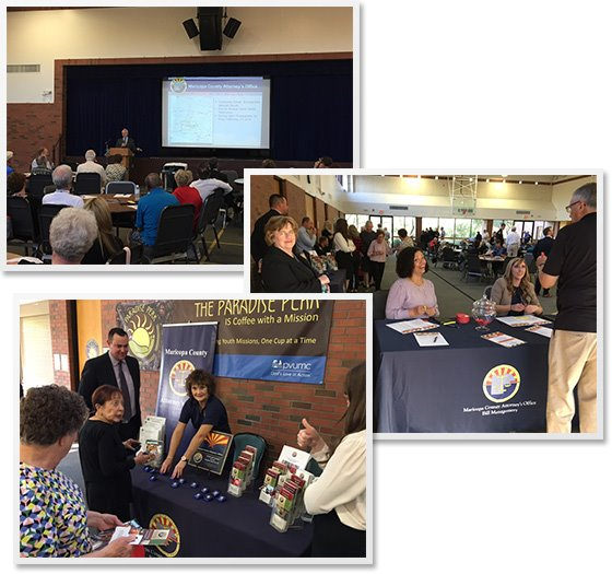 Photo collage from the MCAO Citizen Safety Forum